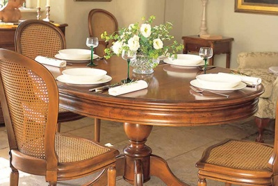wesley barrell dining furniture table chairs white roses