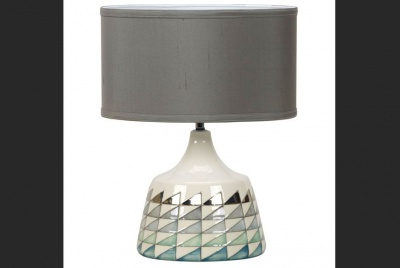 designconsort isosceles lamp teal triangles ceramic