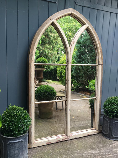 Reclaimed chapel arch window mirror Aldgate Home