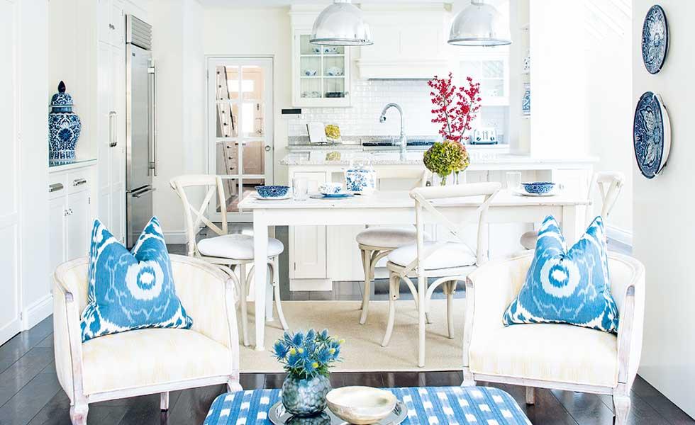 Amelia Carter open-plan coastal kitchen-diner