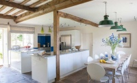 Contemporary open plan kitchen diner