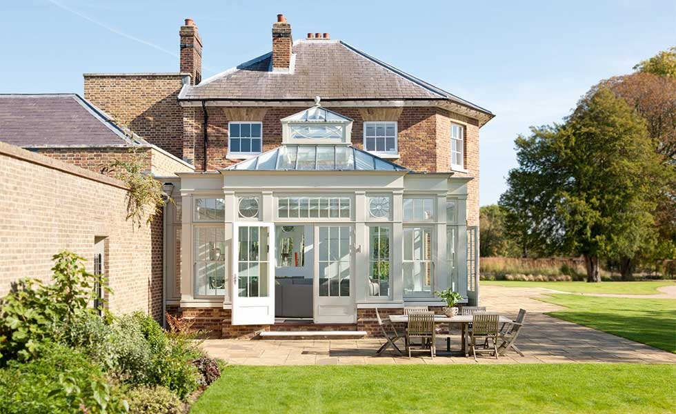 Bespoke Georgian style orangery by Westbury Garden Rooms