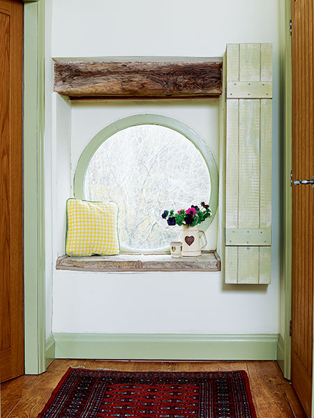 Window seat in period cottage