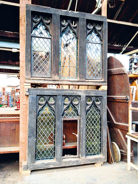 reclaimed windows in arched oak by Wye Valley Reclamation