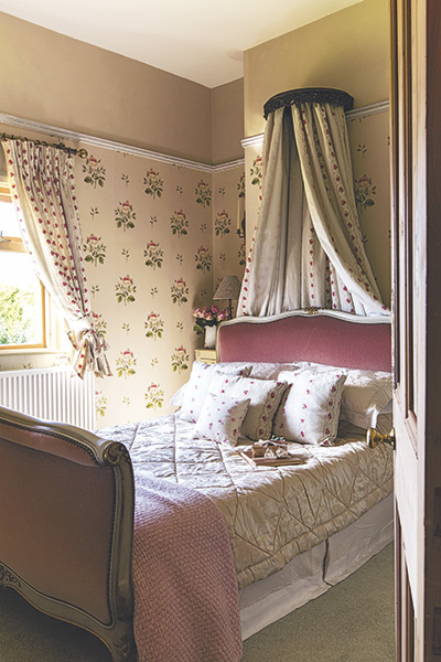 chintz floral country cottage bedroom