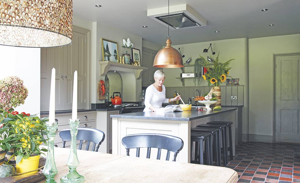 eclectic extended farmhouse kitchen