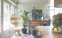 Kitchen diner extension with eclectic interiors