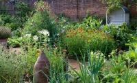 kitchen garden flowers and veg