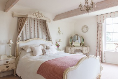 Romantic french style bedroom with coronet