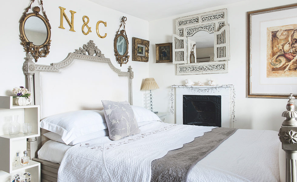 white vintage french bedroom