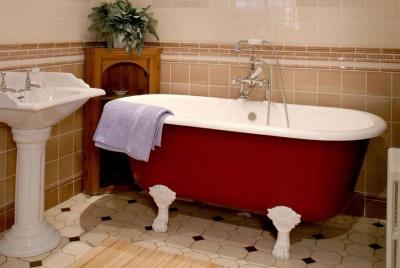 antique baths red roll top bath bathroom