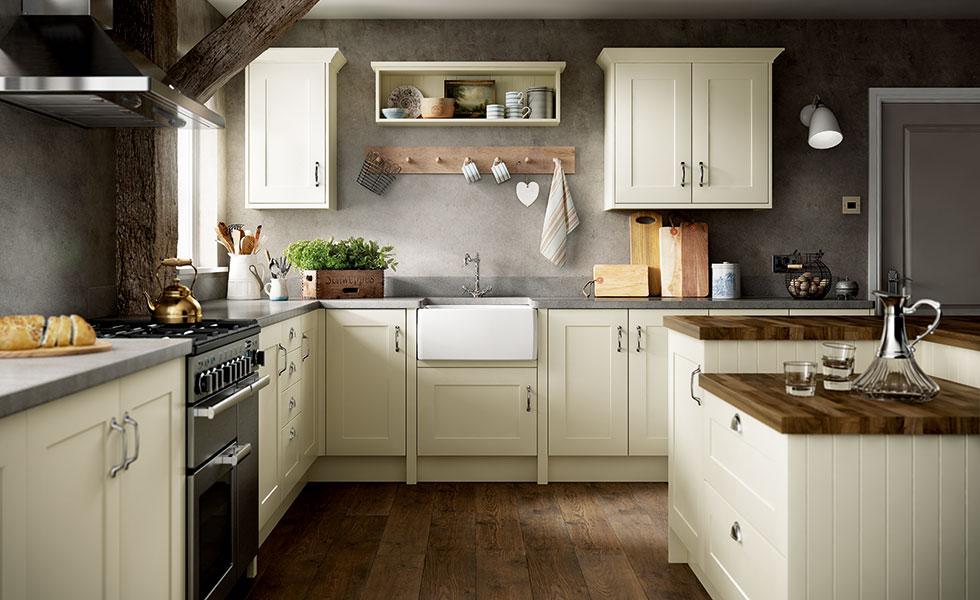 Benchmarx Warwick Shaker Ivory kitchen