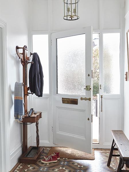open door in a victorian home