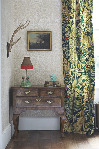 Morris and co forest velvet curtains