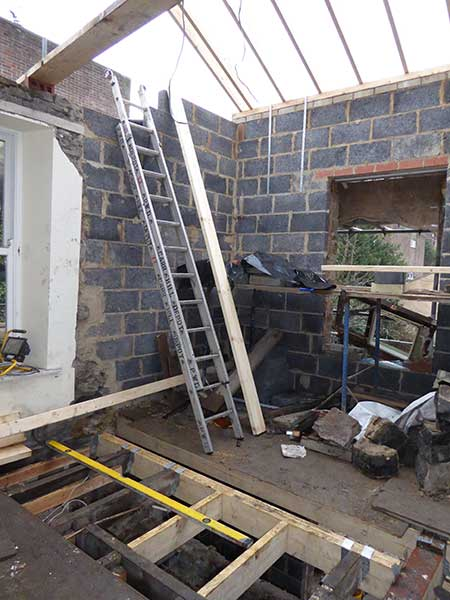 extending a victorian house building work