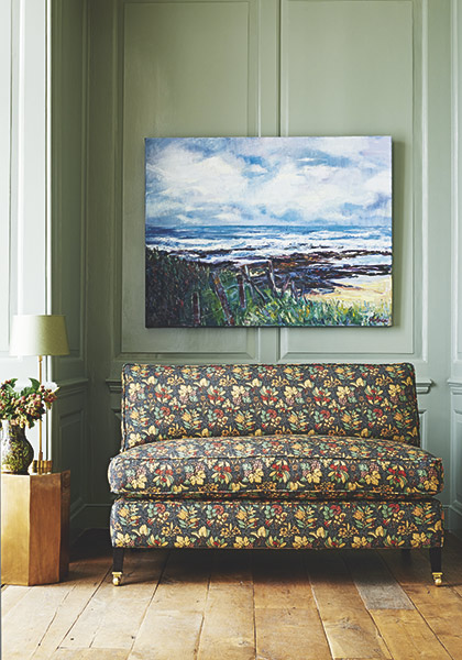 gp&jbaker arts and crafts fabric sofa