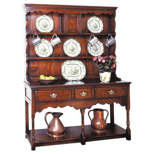 english oak welsh dresser