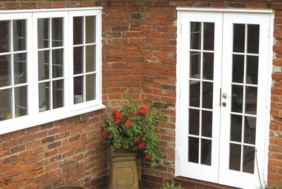Traditional French door set with astragal bars ©George Barnsdale