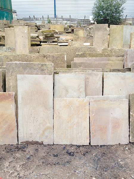 Reclaimed cathedral flagstones