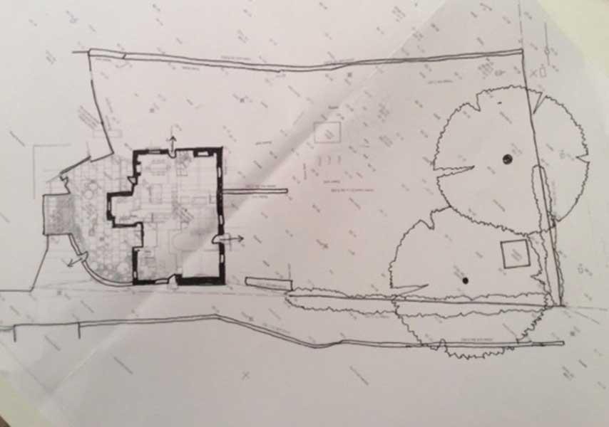 plans for garden of listed Georgian home