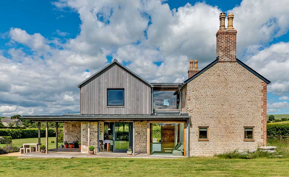 CaSA Architects modern cottage extension in Area of Outstanding Natural Beauty