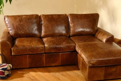 trading boundaries leather corner sofa