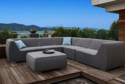 mode living fabric furniture outdoor grey corner