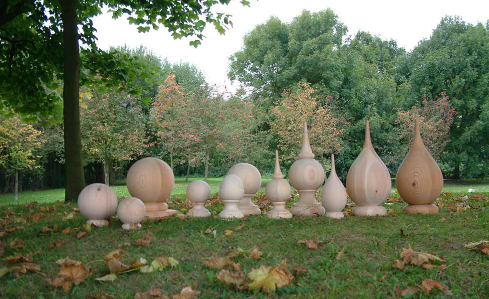 allan calder finials on grass