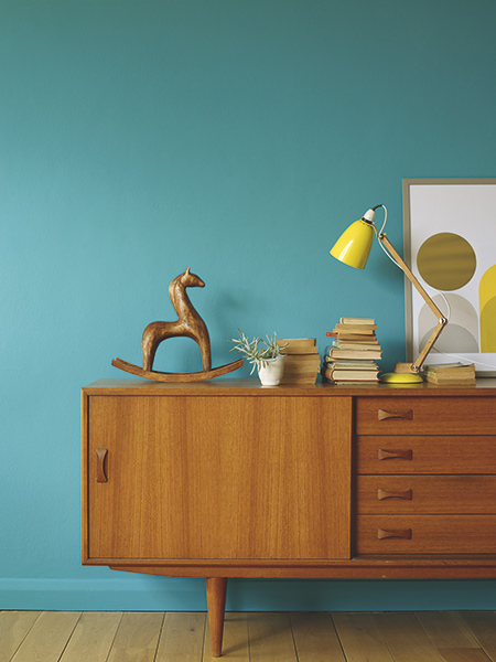 Fired earth mid century southbank paint teal
