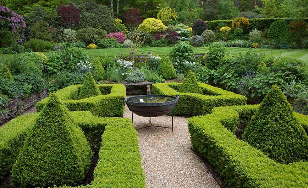 garden with topiary