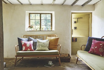 renovated cottage with mid-century ercol furniture