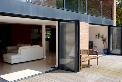 folding sliding doors black