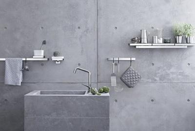 bathroom discount centre taps concrete