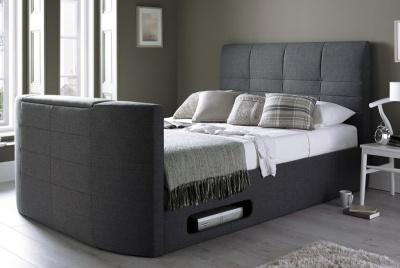 time4sleep York Grey TV Bed