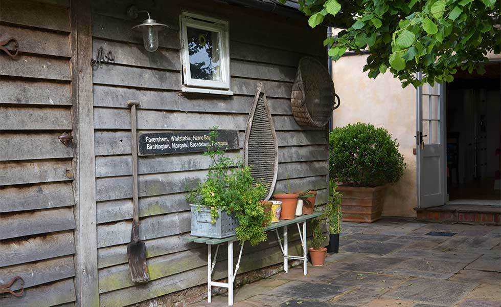 country garden rustic shed
