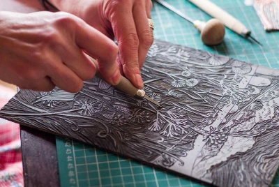 craft hobby lino prints