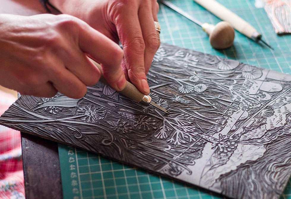 craft hobby lino prints
