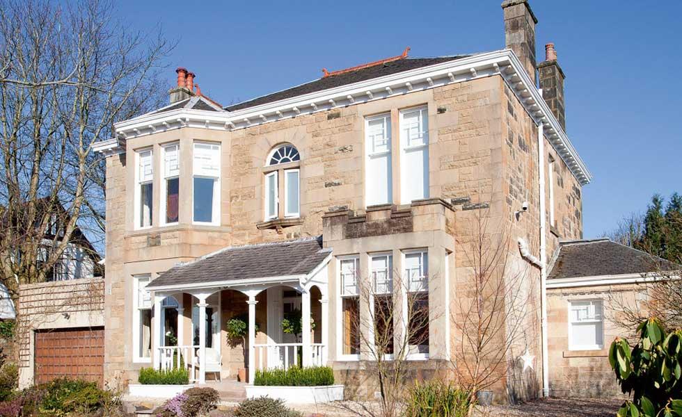 Edwardian house in Glasgow with veranda