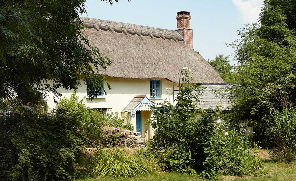 renovated thatched cob longhouse