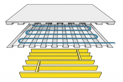 Lewis Deck with underfloor heating over timber joists