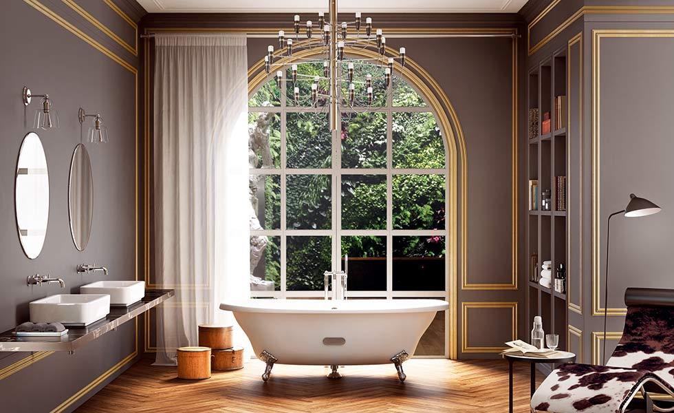 Roca white bath and basins