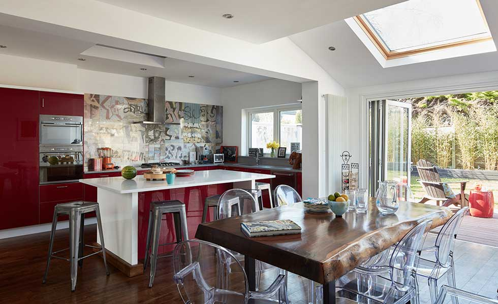 californian style kitchen created without planning permission