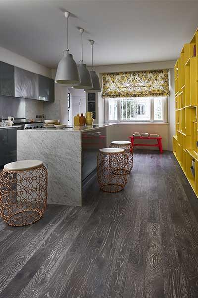 Engineered wood flooring works well with underfloor heating