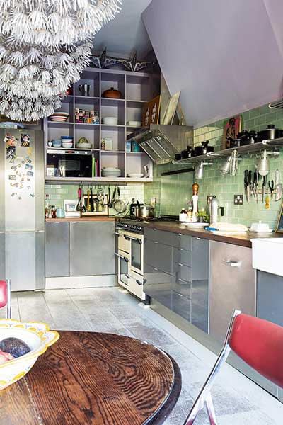 ecclectic colourful kitchen