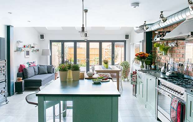 15 incredible kitchen extensions under 200k real homes for New york style kitchen