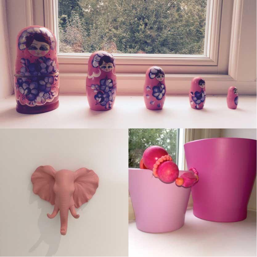 Accessories in little girl's bedroom