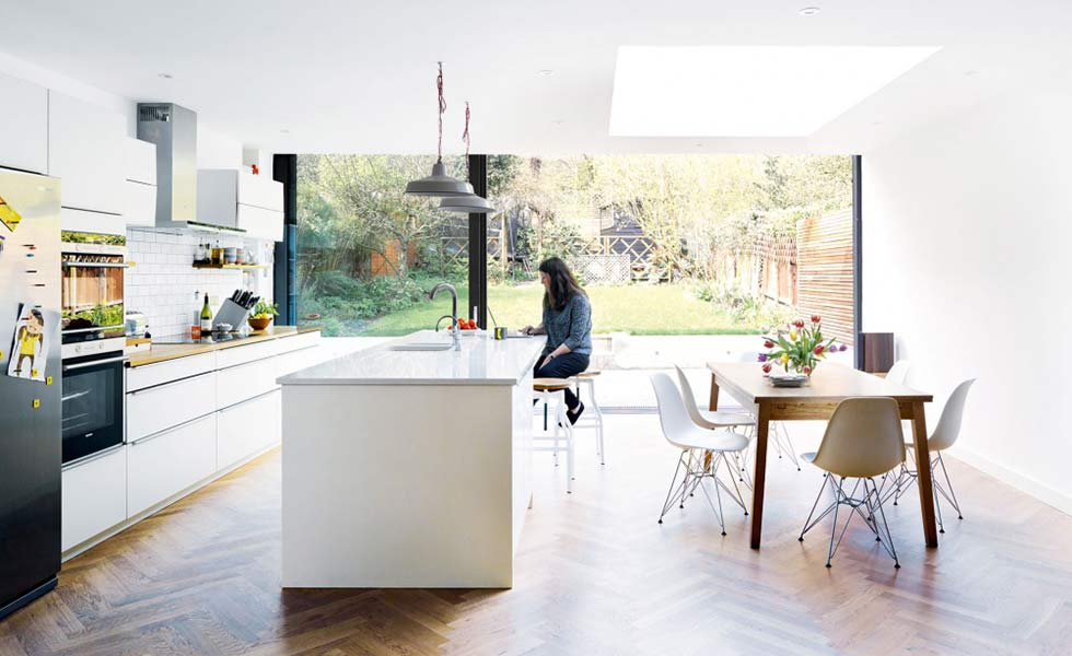 White Kitchen Extensions 15 incredible kitchen extensions under £200k - real homes