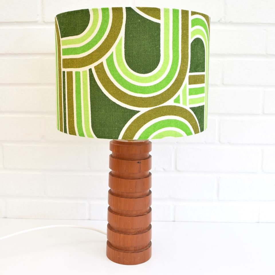 Create a vintage fabric lampshade