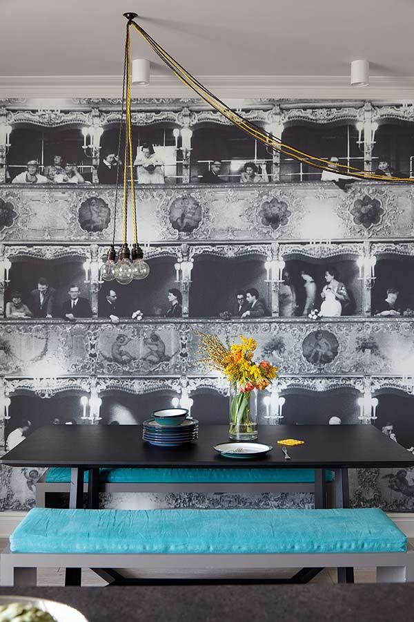 dark wallpaper decorating ideas in a kitchen