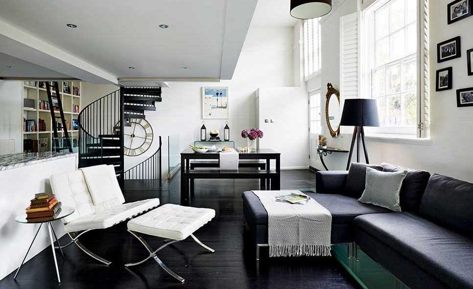 monochrome decoraing ideas in an apartment